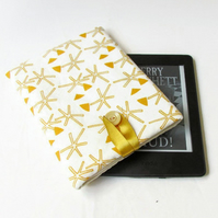 Kindle case in hand printed fabric - Kindle or Kindle paperwhite