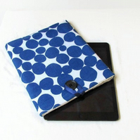 "IPad sleeve in blue spotty fabric - 10"" tablet case"