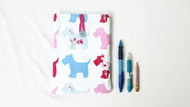 IPad mini case in floral dog print fabric