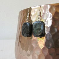 Labradorite earrings - silver and semi precious gemstone earrings