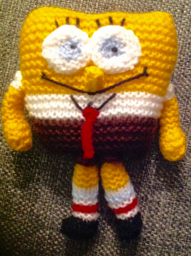 SpongeBob knitted toy.