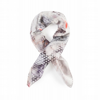 Eye in the Dye Medium 100% Silk Square Head Scarf, Digitally Printed