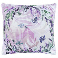 Velvet, Marble effect floral, bugs cushion