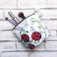 Ladybird Make-Up Bag, waterproof outer