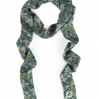 Tropical Silk Skinny Scarf