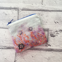 Folky Linen Coin Purse