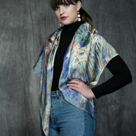 """Imbolc Festival"" Colourful Silk Scarf Gift"