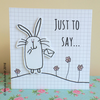 'Happy Bunny' Just to say relief effect card