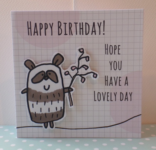 'Panda & Blossom' Happy Birthday Card