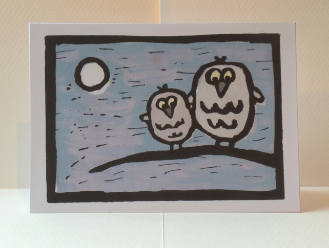 'Owl friends' Greeting card