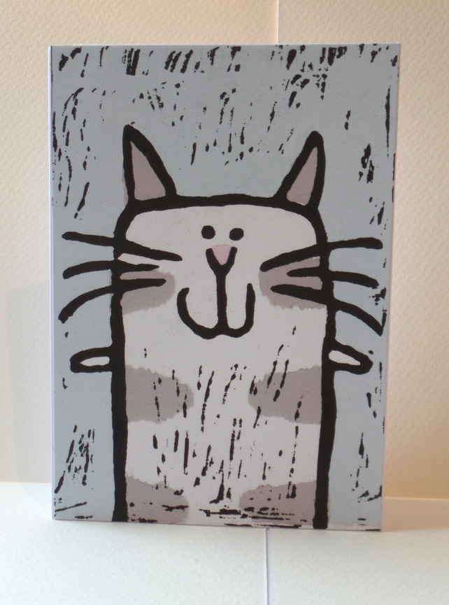 'Happy Cat' Greeting card
