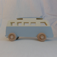 Handmade VW Camper and Surfboard. Toy, Desk Art Gift
