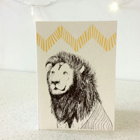 Holili (Respect) - Screen Printed Greeting Card Illustration Cecil the Lion