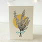 Wild Heather - Screen Printed Greeting Card Illustration Flowers Garden
