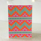 Aztec 80s - Screen Printed Greeting Card Pattern Disco