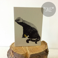 SALE! Slithy Tove - Creatures from the Jabberwocky - Screen Printed Card