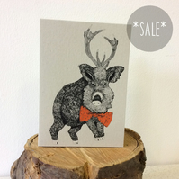 SALE! Mome Rath - Creatures from the Jabberwocky - Screen Printed Greeting Card