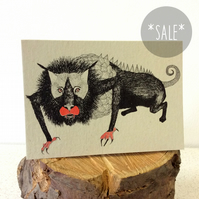 SALE! Jabberwock - Creatures from the Jabberwocky - Screen Printed Greeting Card