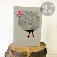 SALE! Jub Jub Bird - Creatures from the Jabberwocky - Screen Printed Card