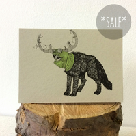 SALE! Frumious Bandersnatch - Creatures from the Jabberwocky - Screen Print Card