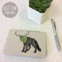 SALE! A6 Frumious Bandersnatch Notebook -  30 Blank Pages - Screen Printed
