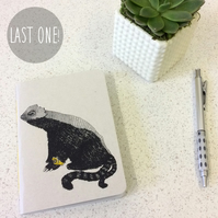 SALE! A6 Slithy Tove Notebook -  30 Blank Pages - Screen Printed