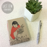 A6 Little Red Riding Hood Notebook -  30 Blank Pages - Screen Printed