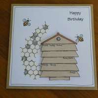 You're The Bee's Knees Birthday Card