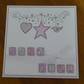 Hanging Star New Baby Girl Card