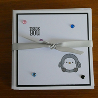 Pack of 6 Thank You Cards - Penguin