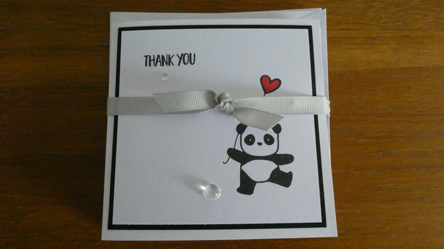 Pack of 6 Thank You Cards - Panda