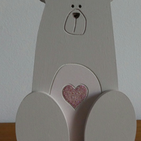MDF Bear With Heart