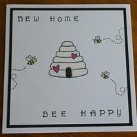 New Home Card - Bee Happy