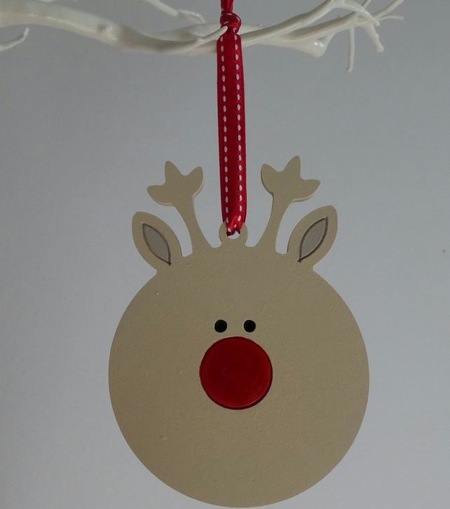 Bauble Style Decoration - Reindeer
