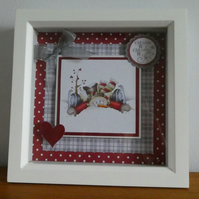 Skating Snowman Box Frame Decoration