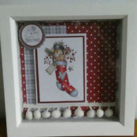Snowman In Stocking Box Frame