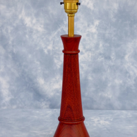 Table lamp in a rich red wood, (Padauk)