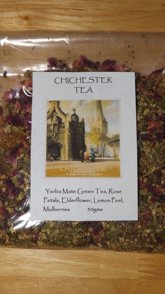 Chichester Tea. A lovely floral,fruity blend celebrating this Sussex city.
