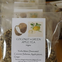 COCONUT & GREEN APPLE YERBA MATE TEA - a delightful taste sensation