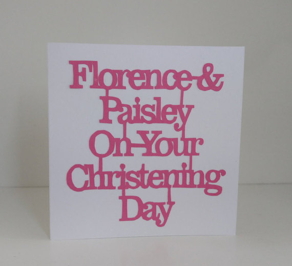 Personalised On Your Christening Day Card