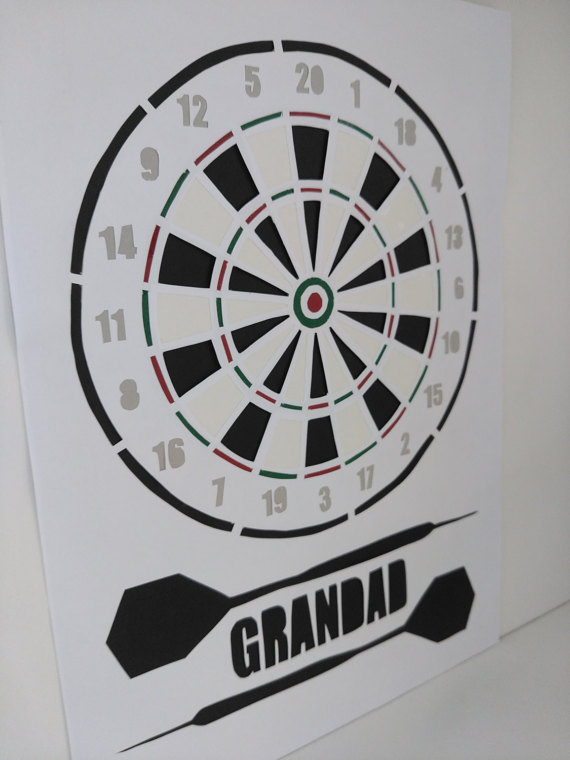 Custom made, Personalised Hand cut Dartboard