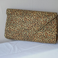 African inspired cheetah print clutch bag