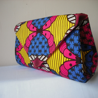 African wax print clutch bag - SECOND