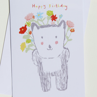 'Bearheart' Happy Birthday card