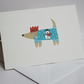 Christmas card, 'Christmas dog' card, greeting card, gifts, animals, pets