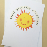 Birthday card, Happy birthday sunshine, greeting card