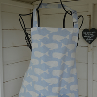 Unisex child's apron. Cotton linen fabric. Can be personalised.