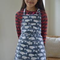 Child's apron. Adult and child sizes. Can be personalised.