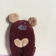 Handmade Soft Toy Sherbet Bear with gold heart