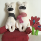Ivory Polar Bear Handmade Plushie with scarf, gift, Nursery decor
